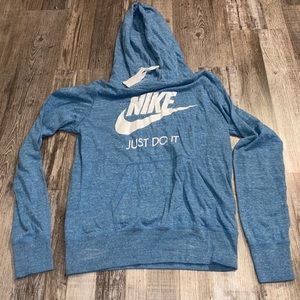 Nike blue white hoodie sweatshirt